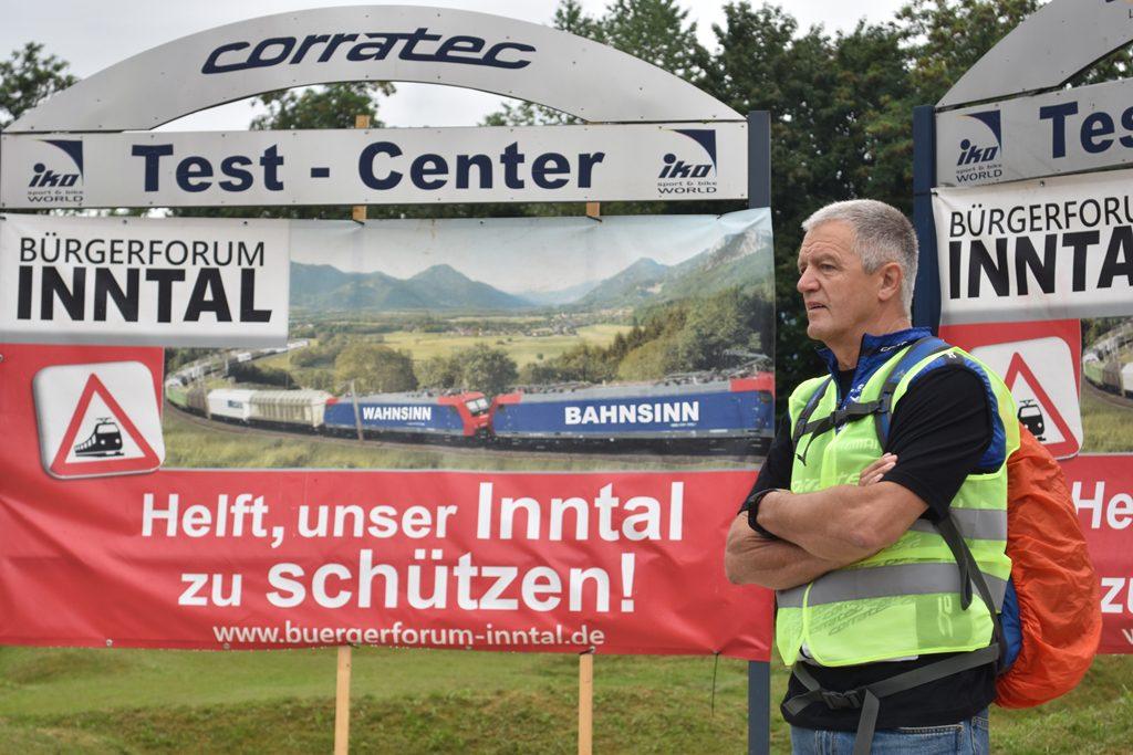 Iko Kirchdorf Herr Schütz  Bürgerforum Inntal Fahrraddemo 2018, Brennernordzulauf