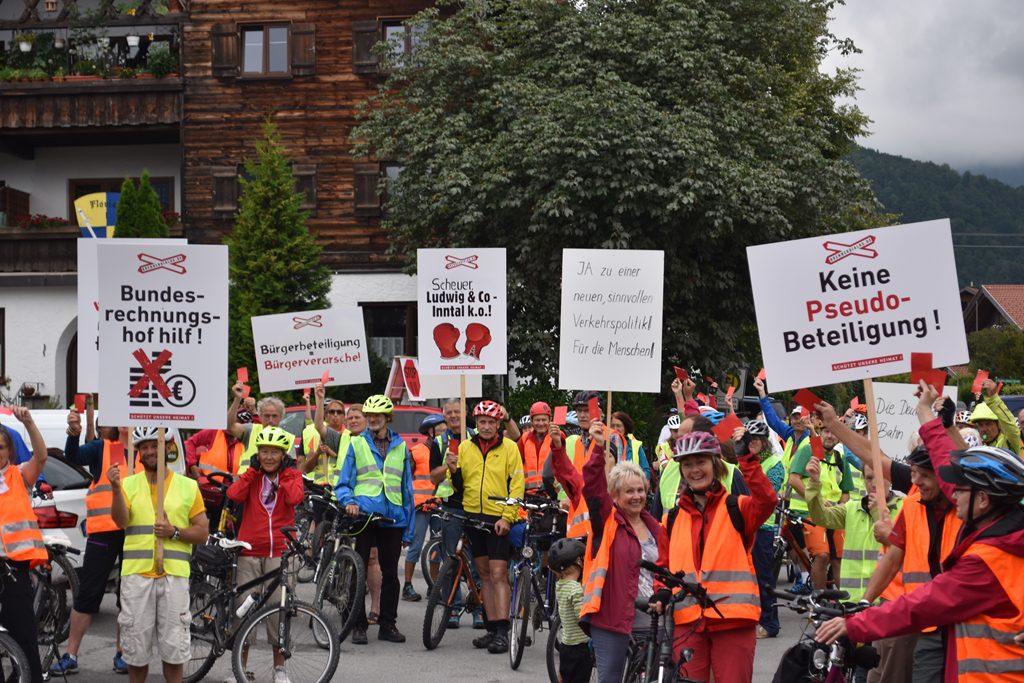 Flintsbach  Bürgerforum Inntal Fahrraddemo 2018, Brennernordzulauf