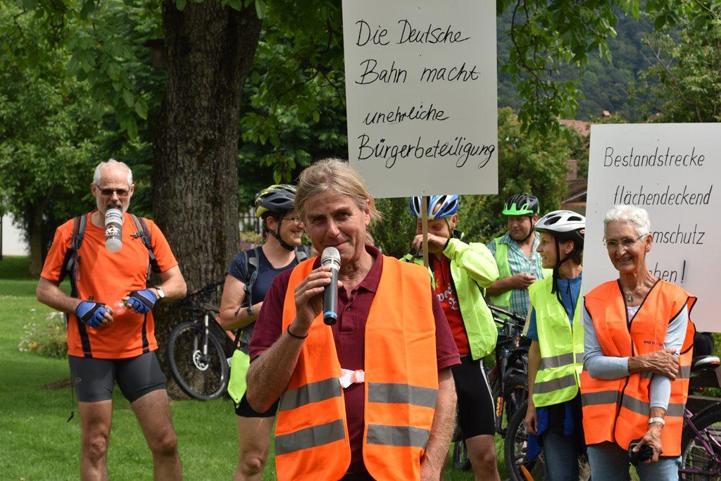 Sepp Reisinger Nußdorf  Bürgerforum Inntal Fahrraddemo 2018, Brennernordzulauf