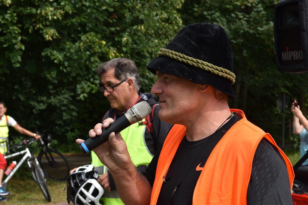 Martin Schmid, Bürgerforum Inntal Fahrraddemo 2018, Brennernordzulauf