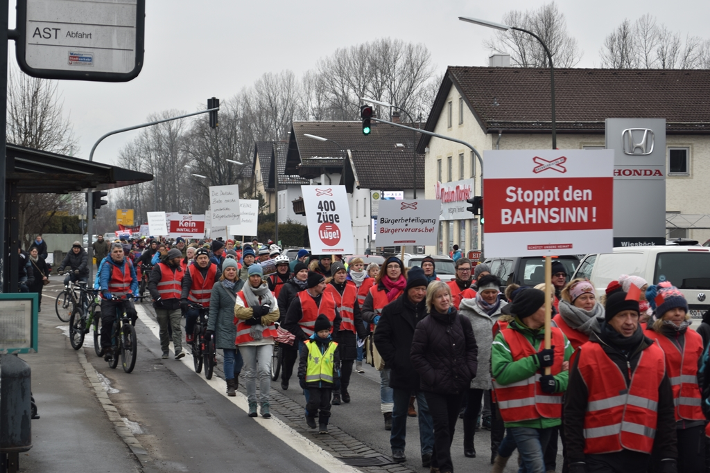 Demonstration Rosenheim am 15.2.2020