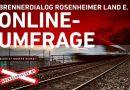 84% sind gegen neue Bahntrasse, Online-Umfrage zeigt klares Meinungsbild.