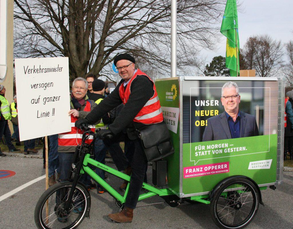Die Grünen unterstützen die Bürgerinitiative auf ganzer Linie, und OB-Kandidat Franz Operer lässt es