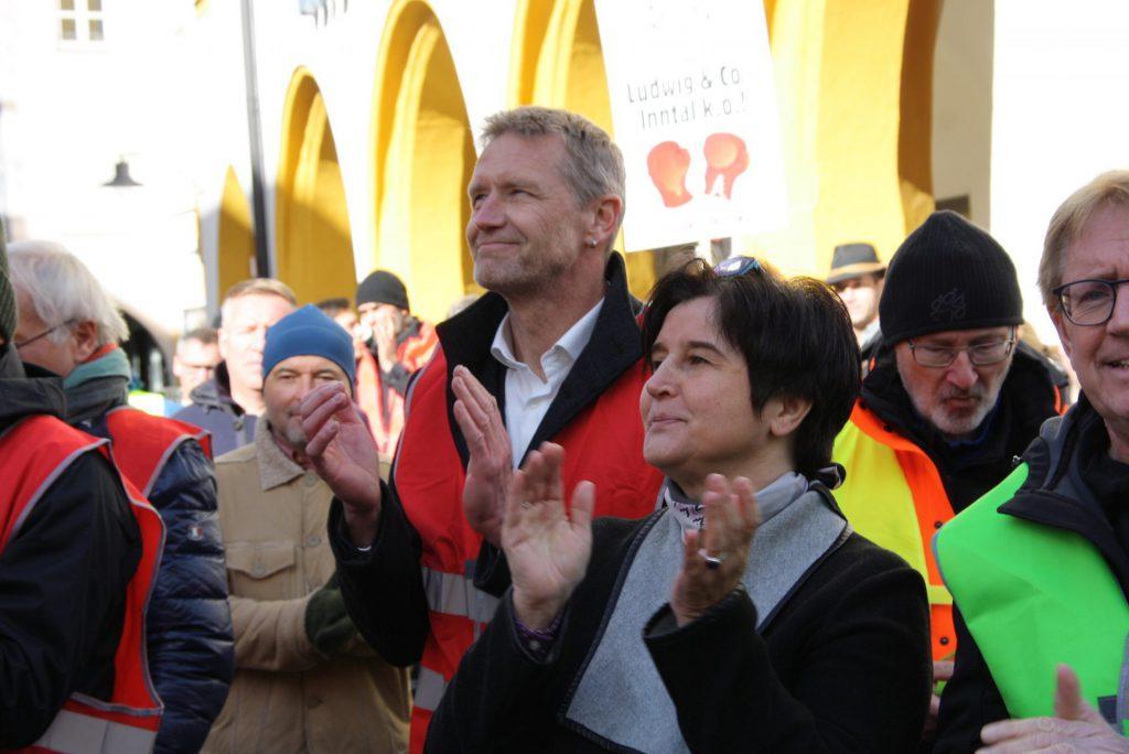 Rainer Auer (parteiübergreifender Landratskandidat) und Maria Noichl (EP-Abgeordnete SPD) unterstütz