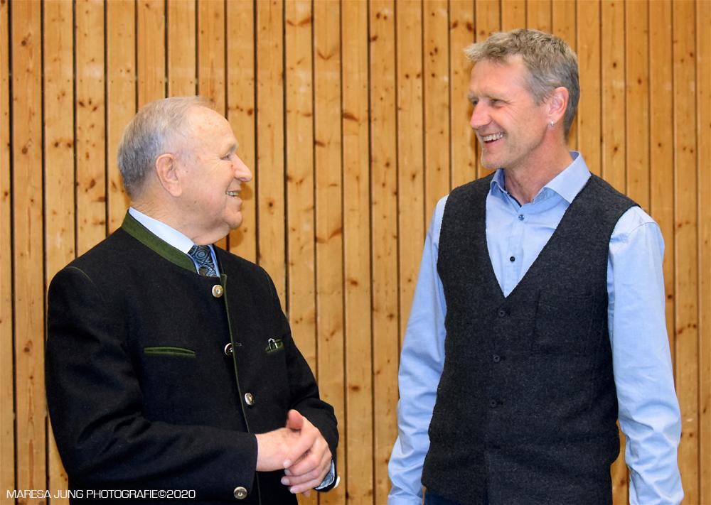 Hans Schuirer ehemaliger Landrat von Wackersdorf, Landratskandidat Rainer Auer.