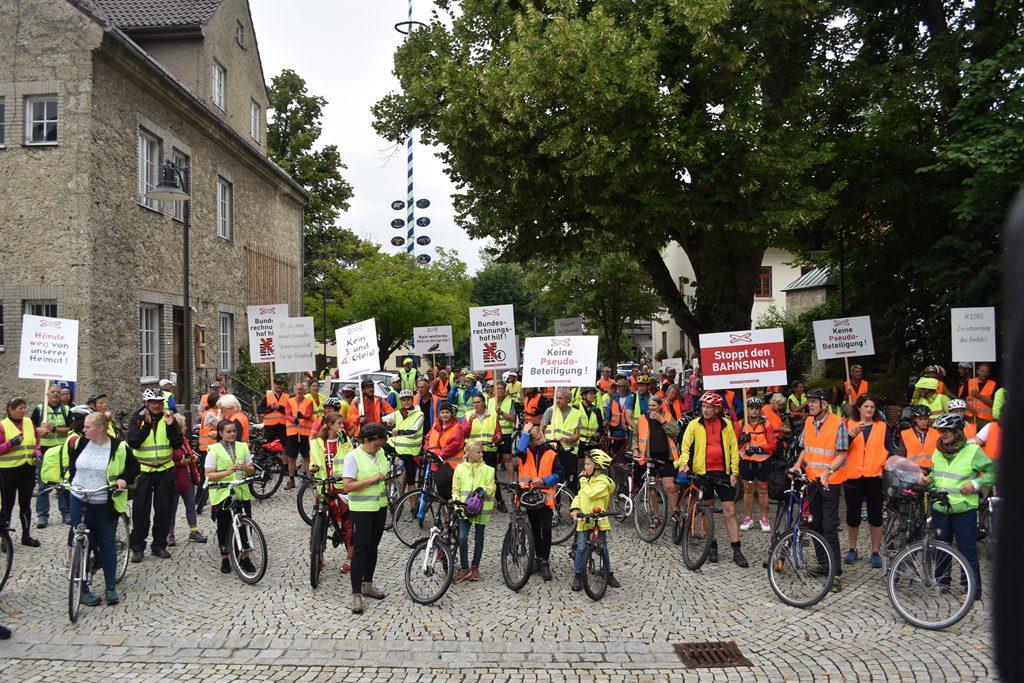 Brannenburg  Bürgerforum Inntal Fahrraddemo 2018, Brennernordzulauf
