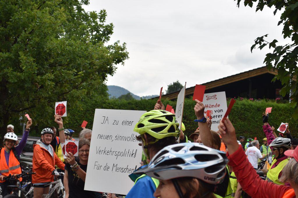 Fischbach  Bürgerforum Inntal Fahrraddemo 2018, Brennernordzulauf