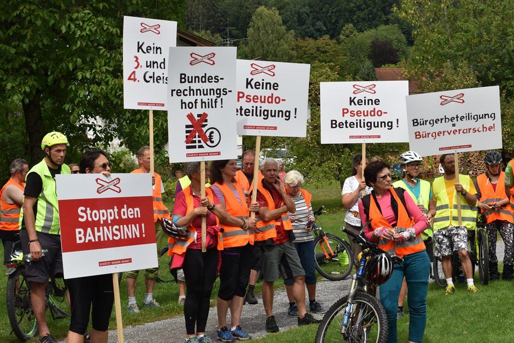 Nußdorf  Bürgerforum Inntal Fahrraddemo 2018, Brennernordzulauf