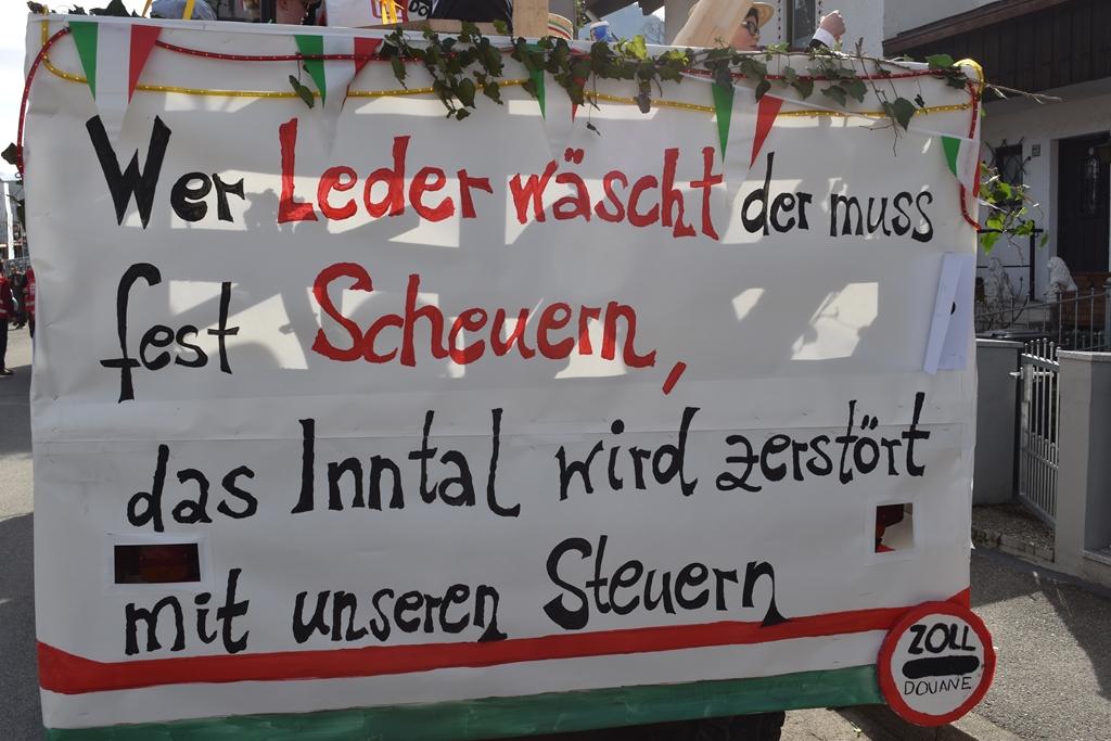Faschingszug Flintsbach mit Bürgerforum Inntal   Brannenburg / Flintsbach.