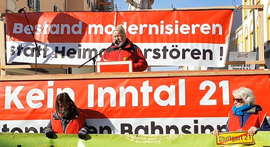 Michael Becker (Stuttgart 21) berichtete über die Machenschaften, falsche Versprechungen und Lügen b