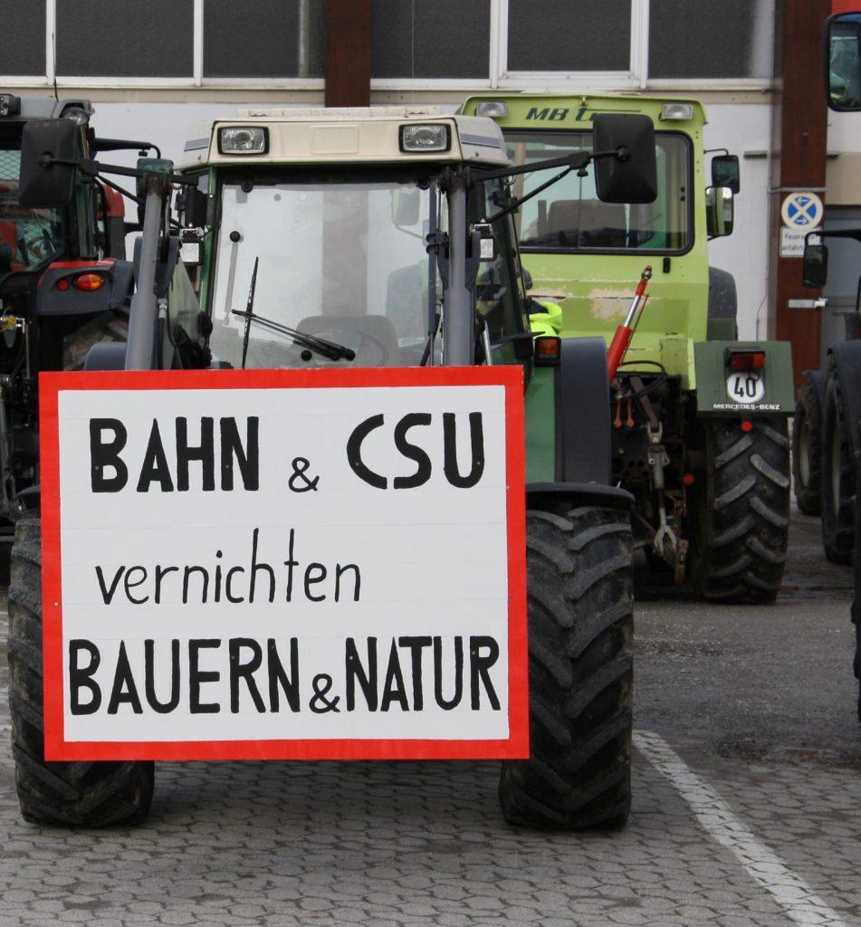 Der Ärger vieler Landwirte über die Politik der CSU-Verkehrsminister ist verständlich. Dateiname: PI