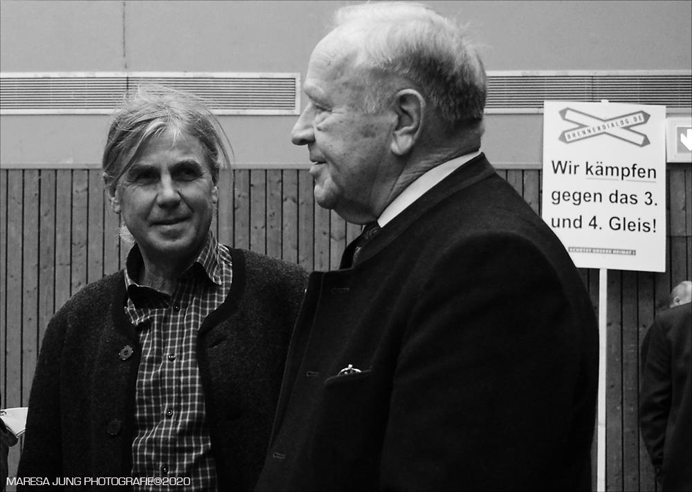 Hans Schuirer ehemaliger Landrat von Wackersdorf, Sepp Reisinger Brennerdialog.